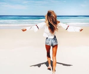 beach, tumblr, and young wild and free image