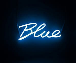 blue, words, and floresent image