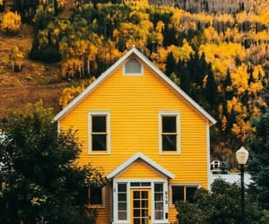 yellow, house, and home image