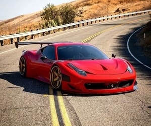 ferrari, red, and car image