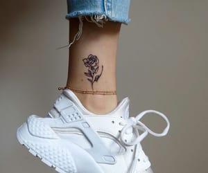 tattoo, rose, and white image
