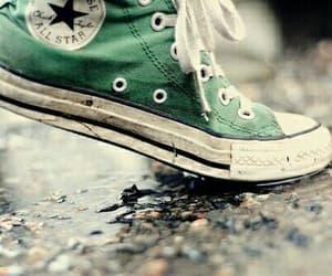 converse, green, and rain image