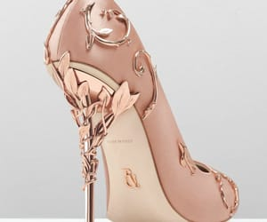 high heels, shoe, and rose gold image