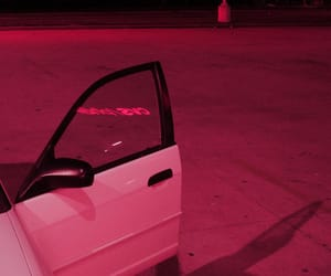 car, pink, and grunge image