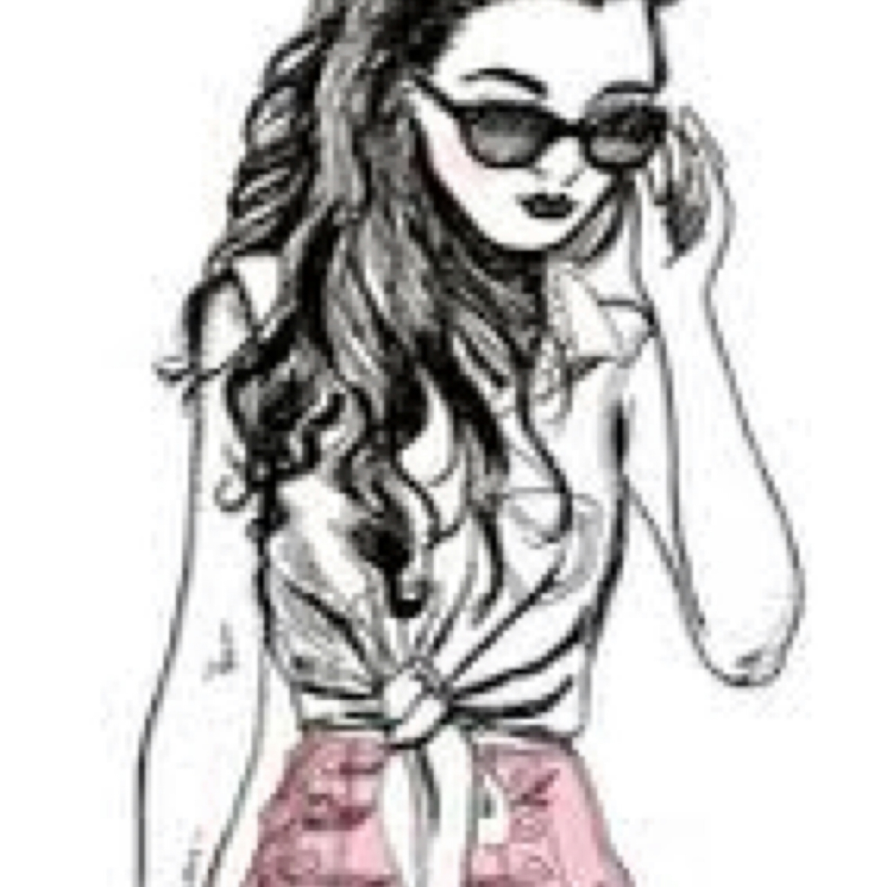 312 Images About Chicas En Blanco Y Negro Dibujos On We Heart It See More About Girl Art And Outline