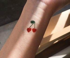 cherry, tattoo, and cute image