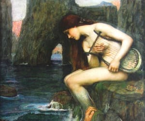 art, painting, and siren image