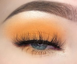 eye, eyelashes, and eyeshadow image
