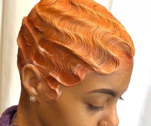 beauty, color, and finger waves image