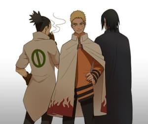 naruto, sasuke, and shikamaru image