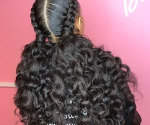braids, curly, and cute image