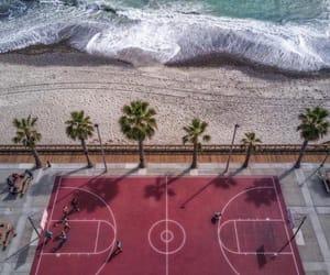 beach, sea, and Basketball image