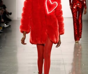 fashion, red, and runway image