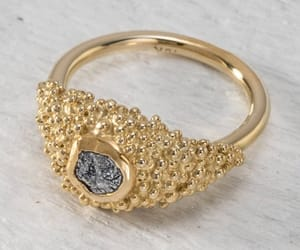 diamond ring, fine jewelry, and yellow gold image