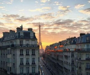 france and sunset image