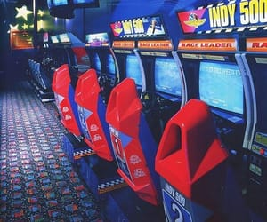 aesthetic, arcade, and blue image