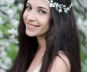 etsy, flower headpiece, and hair wreath image