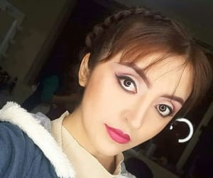 cute girl, girl face, and make up image