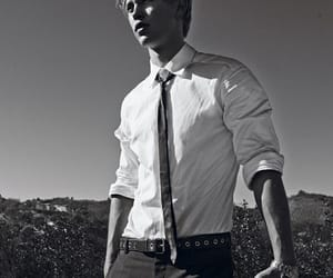 austin butler and black and white image