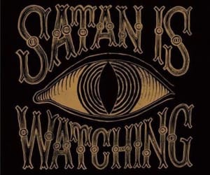 satan, eye, and watching image