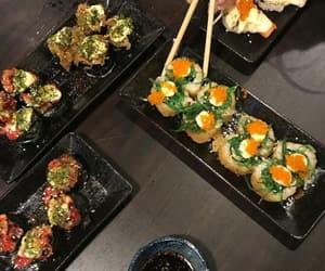 chopstick, japan, and sushi image