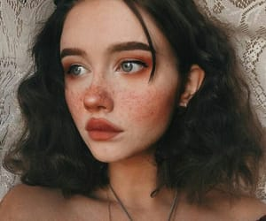 girl, makeup, and freckles image