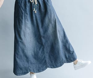 etsy, maxi skirt, and flared skirt image