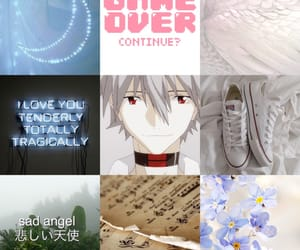 anime, evangelion, and sad image