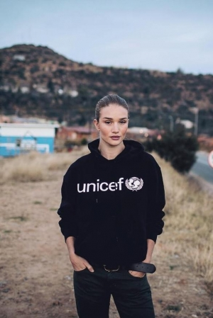 Rosie Huntington-Whiteley Lesotho, South Africa with Unicef July 19 2016