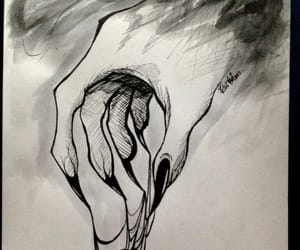 anxiety, hand, and madness image