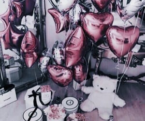 balloons, pink, and birthday image