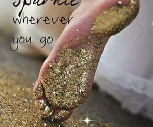 feet, glitter, and gold image