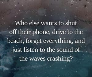 beach, listen, and waves image