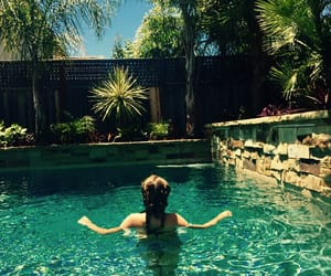 pool, summer, and sunny day image