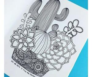 art, mandala, and cactus image