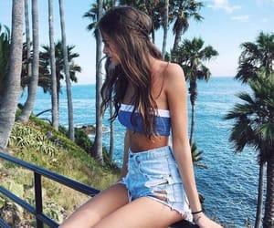 beach, brown, and hair image