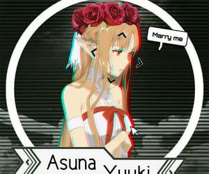 anime girl, design, and sword art online image