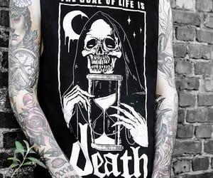 black, goal, and skull image