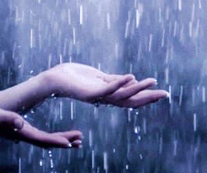 gif, raining, and july image