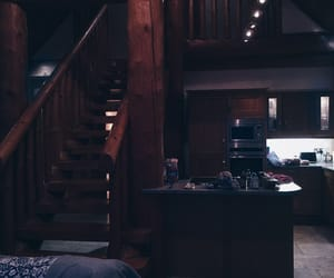 cabin, kitchen, and cozy image