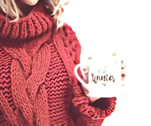 winter, red, and christmas image
