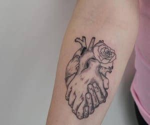 tattoo, heart, and ink image
