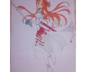 draw, asuna yuuki, and SAO image