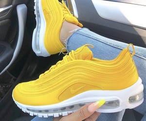 shoes, yellow, and nike image