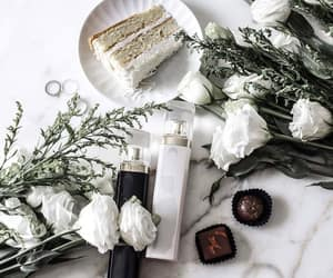 flowers, white, and cake image