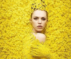yellow, flowers, and woman image