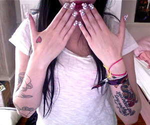 tattoo, nails, and girl image