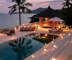 travel, pool, and light image