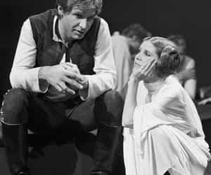 acting, carrie fisher, and han image