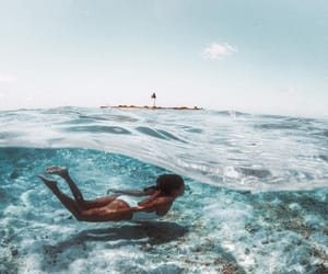 sea, summer, and swimming image